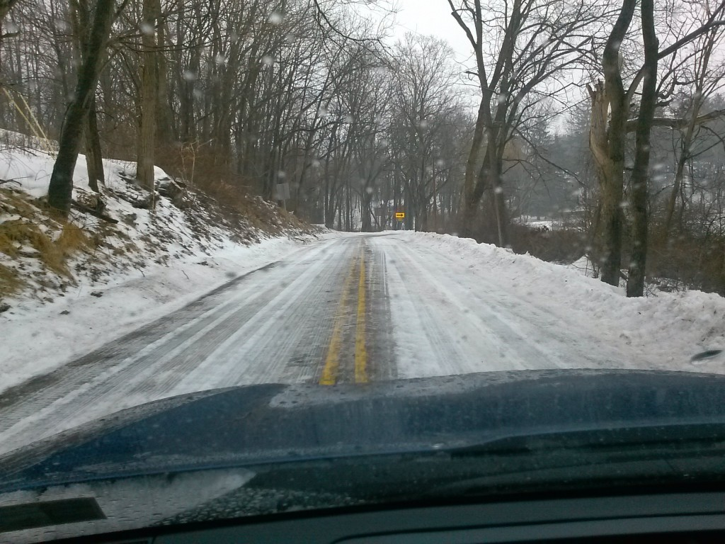 """They said """"2 to 4 inches of snow with minimal ice"""" ... I said """"HEAVY ICE"""" ... We got almost over an inch of sleet topped off by freezing rain. Bad driving the next morning March 4, 2015"""