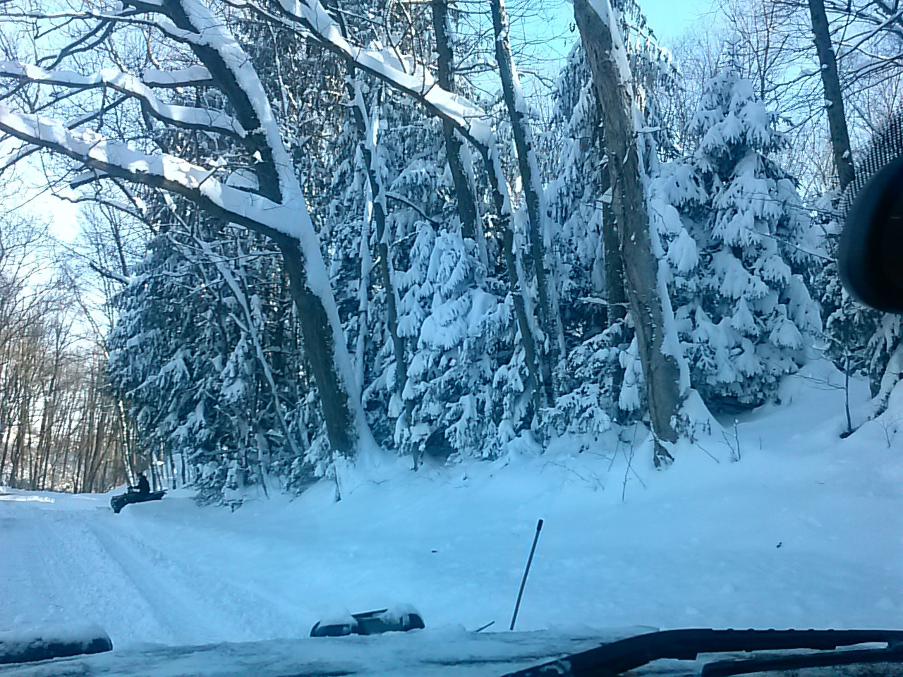 Day after the storm JONAS. Secondary roads are still covered and I'm out plowing.